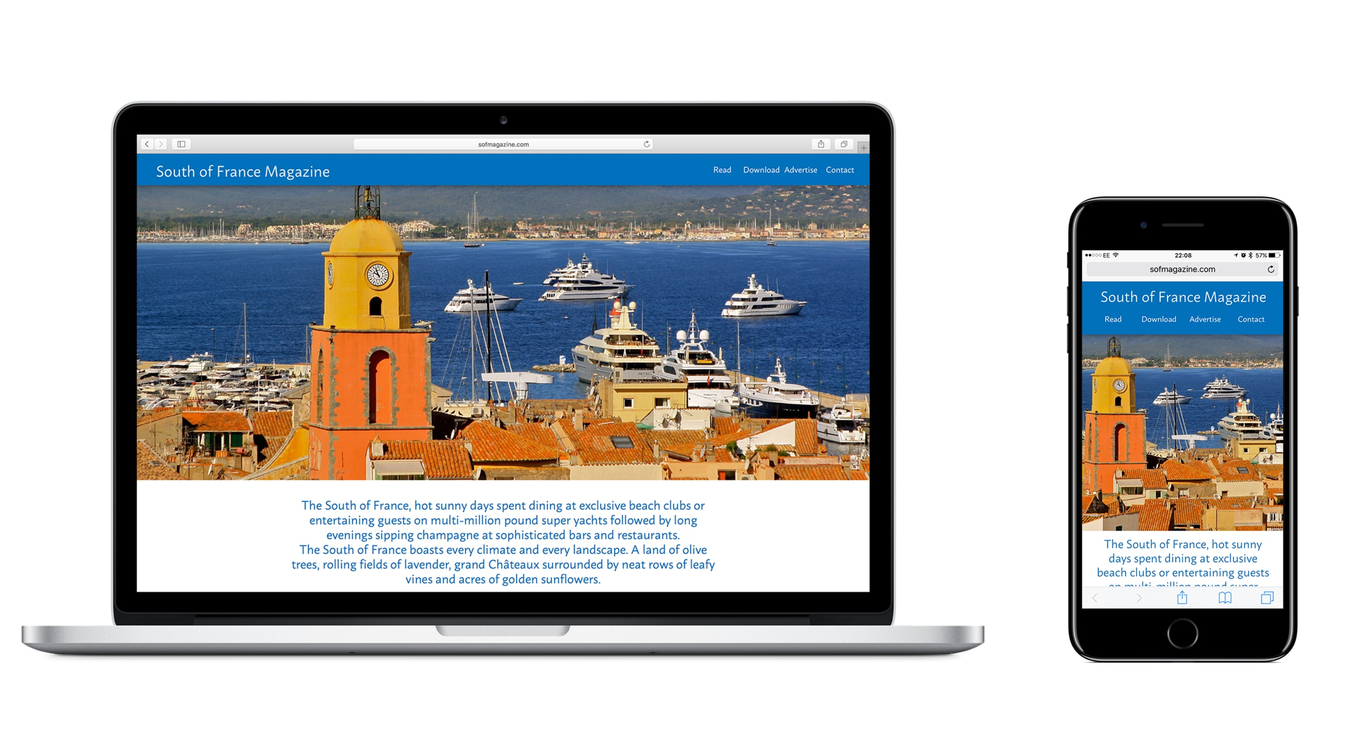 Smudge Website Development - South of France Magazine